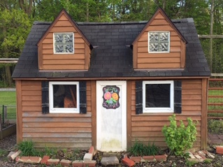 Orange Village Garden shed front